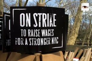 On Strike To Raise Wages NYC (i) Mindz Productions